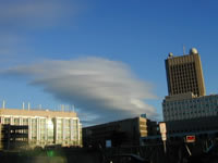 A Calendrical Cloud  next to MIT's Earth Sciences Building
